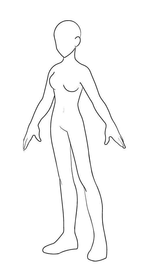 530x960 Female Model Black Outline By Karmada