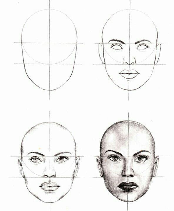 Female Face Drawing Images