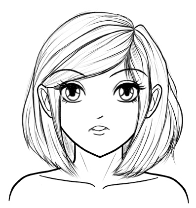 397x422 drawn anime face