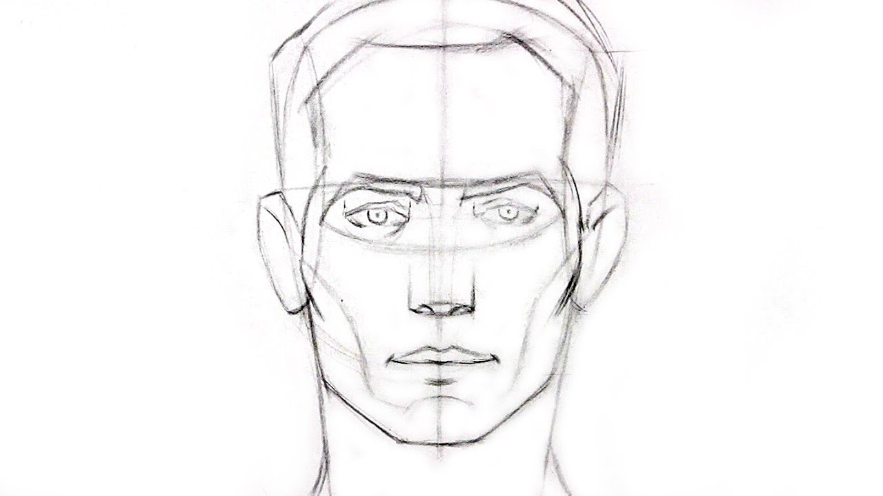1280x720 Drawing How To Draw A Face Looking Up Together With How To Draw