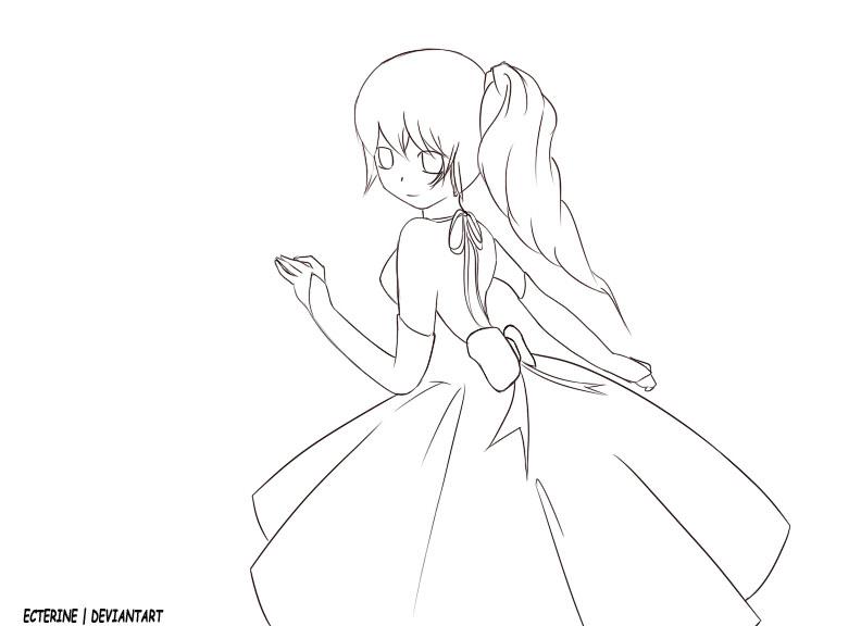 792x576 Drawn Anime Outline Female