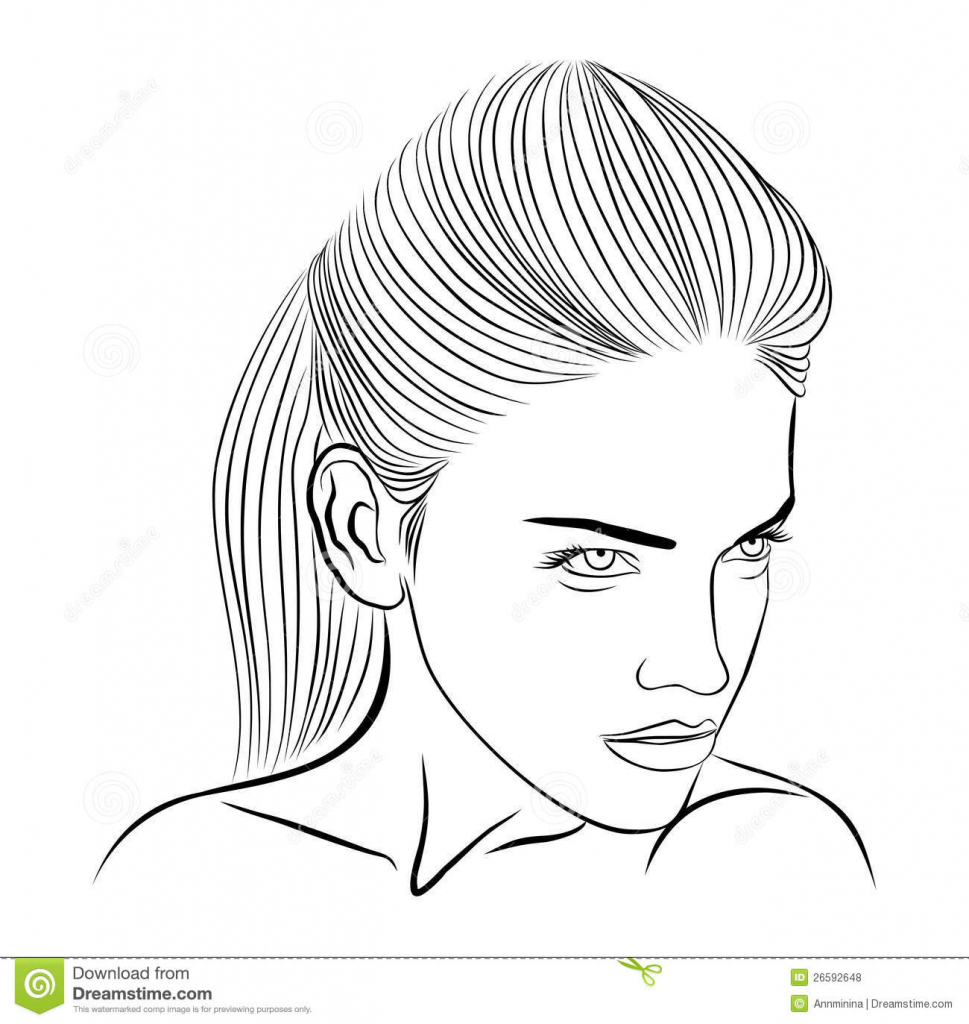 969x1024 Female Face Drawing Outline Face Outline Drawing Female Face