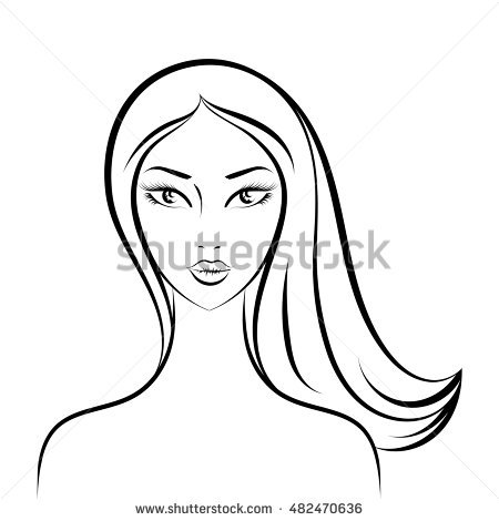 450x470 Photos Face Drawing Outline Woman,