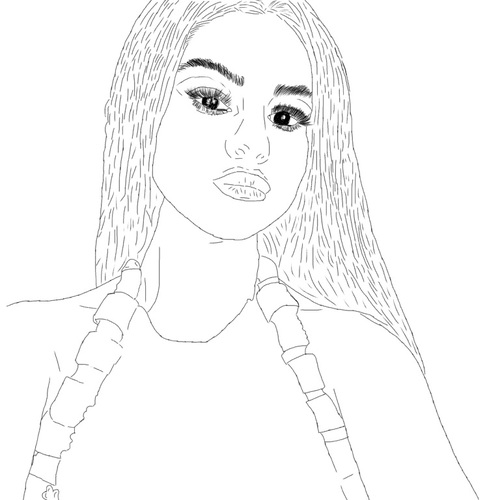 500x500 We Heart It Cool, Selena Gomez, And Outline Selena Drawings