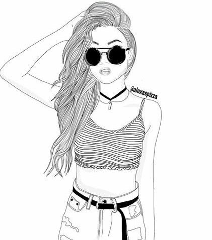421x478 Black Amp White, Draw, Drawing, Face, Girl, Outline, Outlines