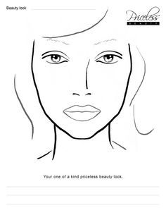Female Face Drawing Template