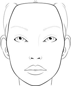 236x285 Blank Face Charts For Makeup Artists