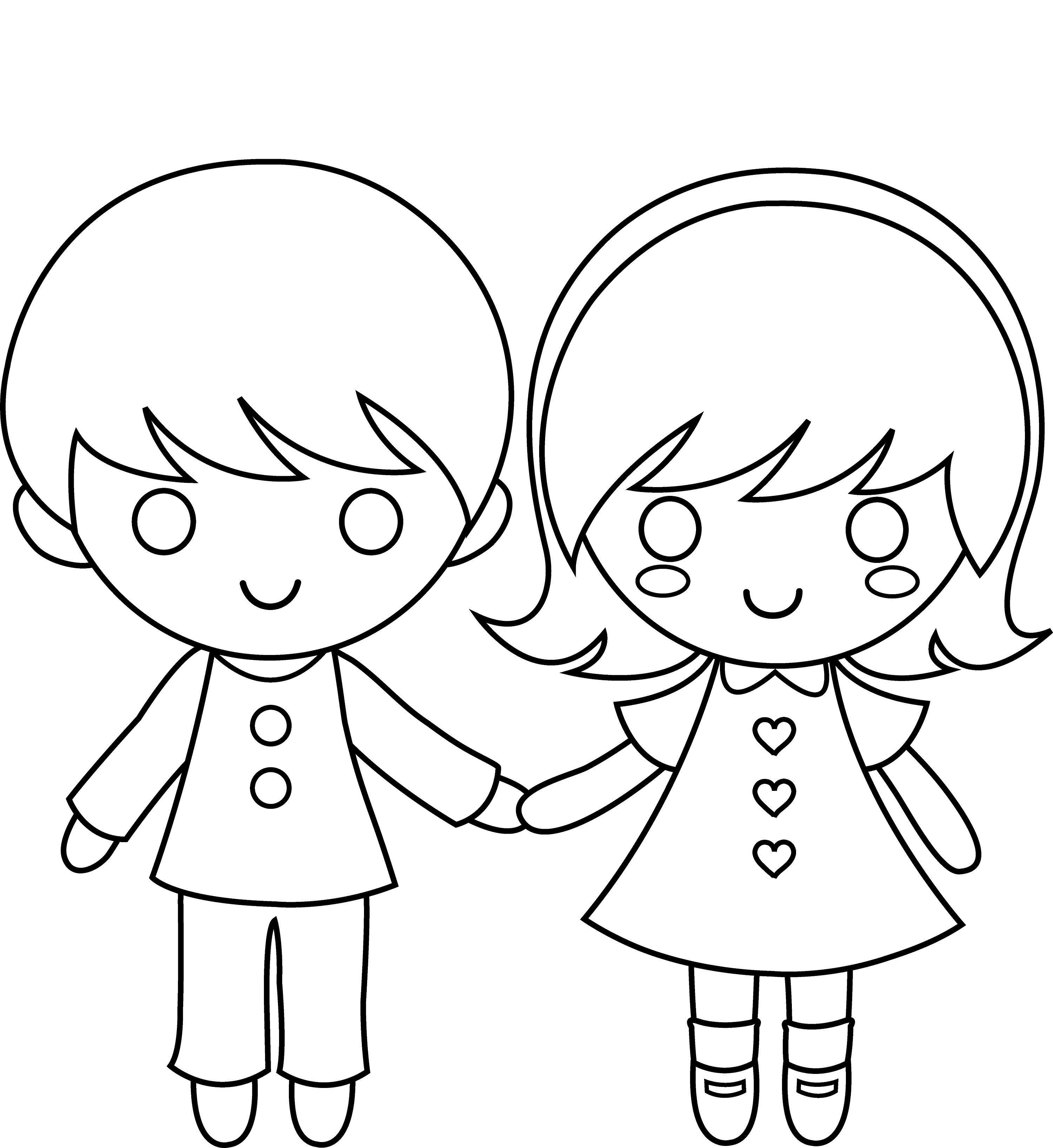 3000x3269 Boy And Girl Templates Printable Loving Printable