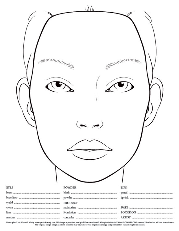 Face Charts Amp Beauty House The Following Face Charts Are From