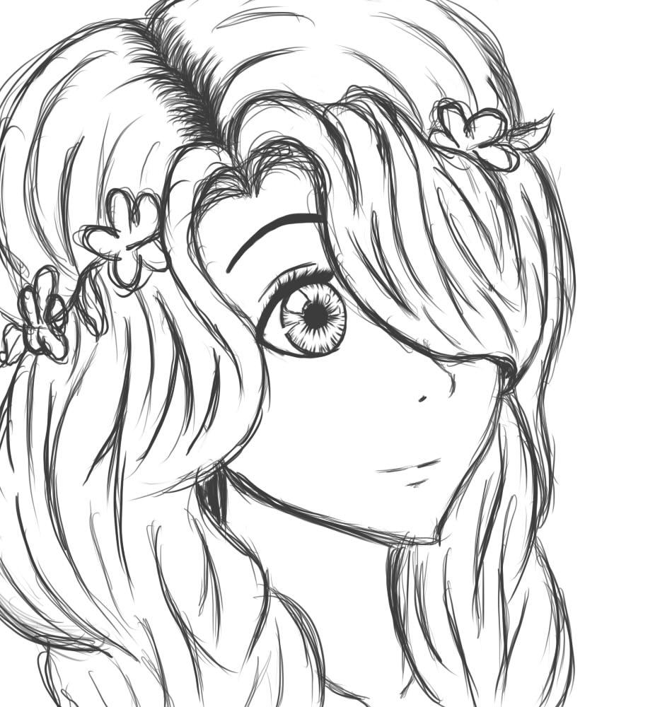 950x1000 Drawn Girl Animated