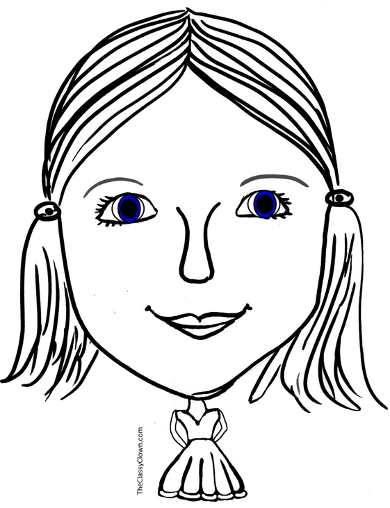 Female Face Drawing Template at GetDrawings.com | Free for personal ...