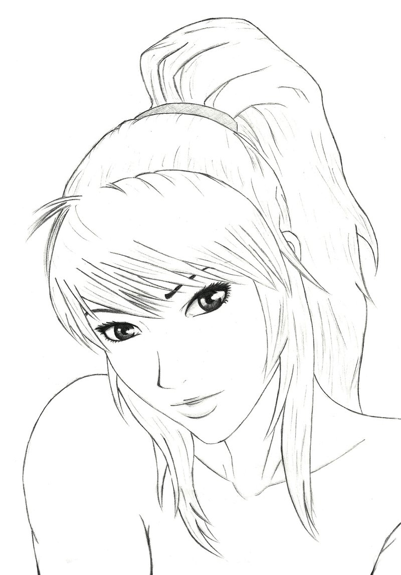 Female Face Drawing Template at GetDrawings Free for