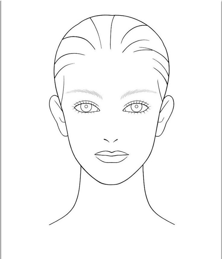 736x857 52 Best Make Up Blanks Images On Body Template