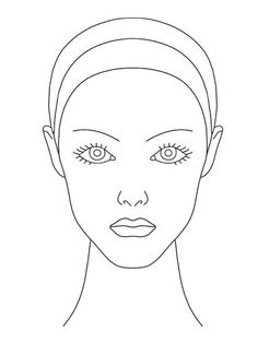 236x314 10 Blank Face Chart Templates (Male Face Charts