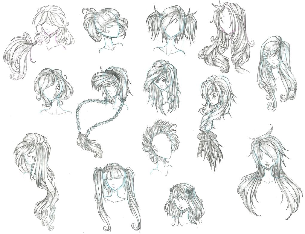 1020x783 Anime boy with curly hair Anime Hair By Aii Cute Sketch