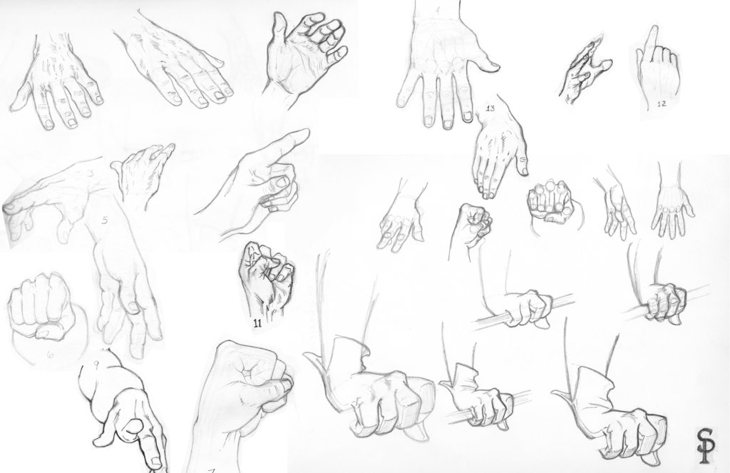 Female Hands Drawing