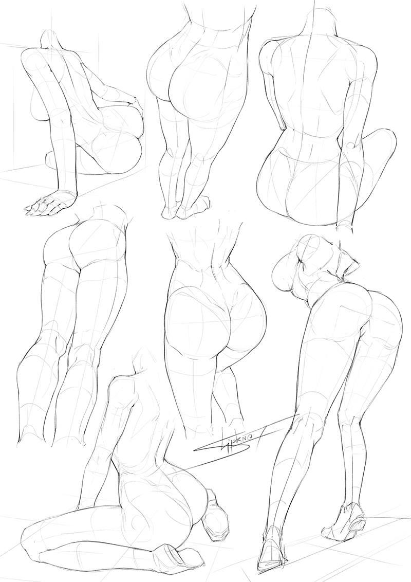 Female Leg Drawing