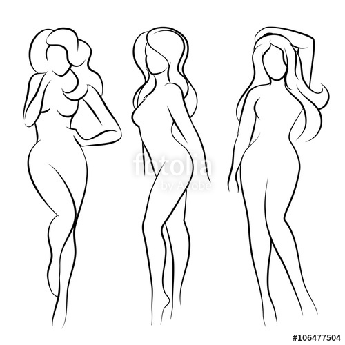 500x500 Nude Female Silhouette Woman Health Logo And Woman Body Care