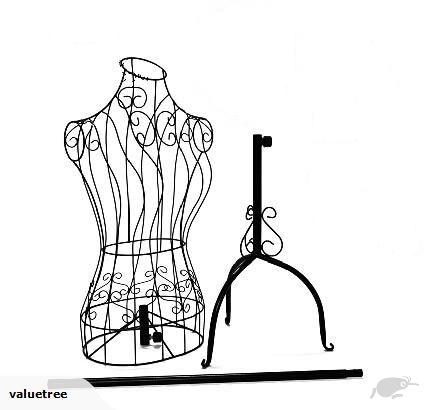 430x410 Iron Black Mannequin, Cloth Display Rack