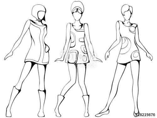 500x375 Mod Girls Sketch Stock Image And Royalty Free Vector Files
