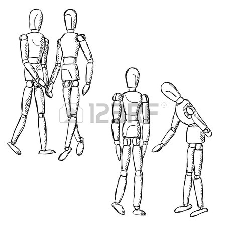 450x450 Pain Infographics. Wooden Female Or Male Mannequin For Drawing