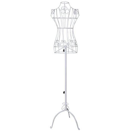 500x500 Songmics Vintage Lace Style Female Mannequin Torso Adjustable