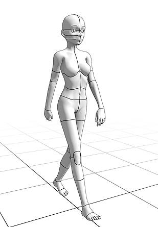 309x445 Walking Pose 7