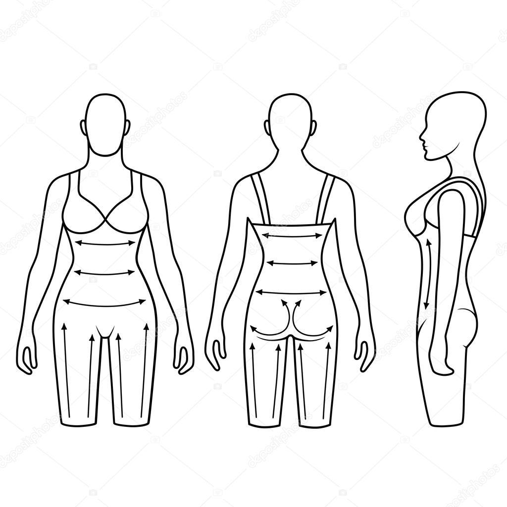 1024x1024 Woman Mannequin Slimming Underwear Torso Stock Vector Arlatis