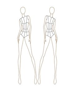 236x305 Fashion Croquis Templates