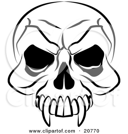 450x470 Clipart Of A Female Mouth With Vampire Fangs