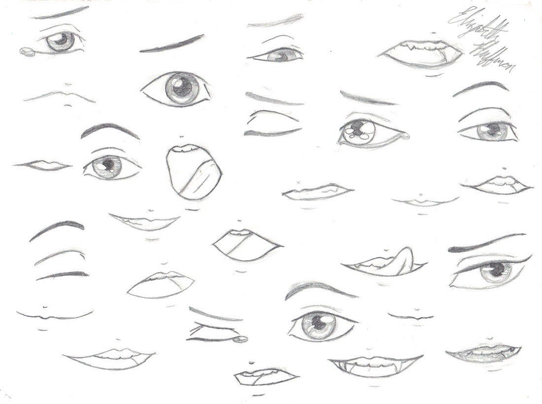 1100x820 Drawing Practice Eyes And Mouths By Artisticallyliterate