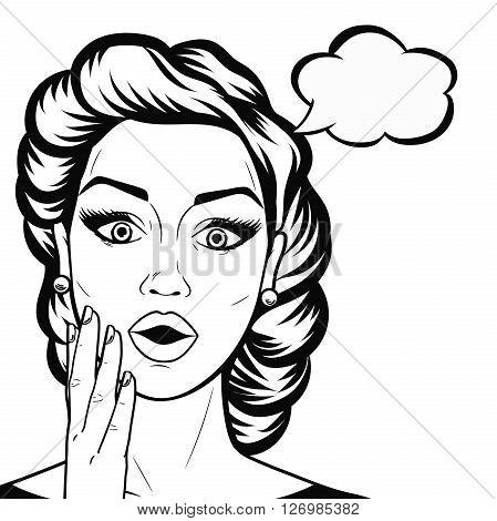 449x470 Line Art Woman Face Open Mouth Vector Amp Photo Bigstock