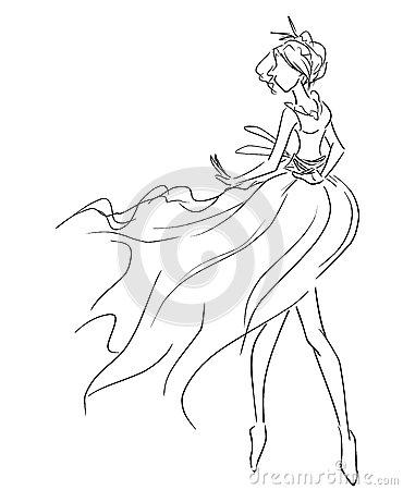 370x450 Drawn Dancer Female Dancer