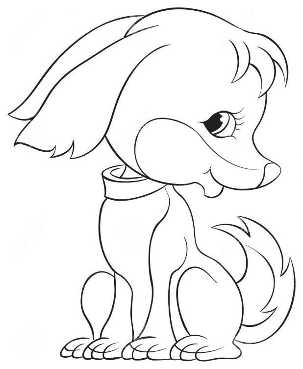 618x754 Puppy Outline Drawing Vector Picture Puppy Outline Drawing. Puppy