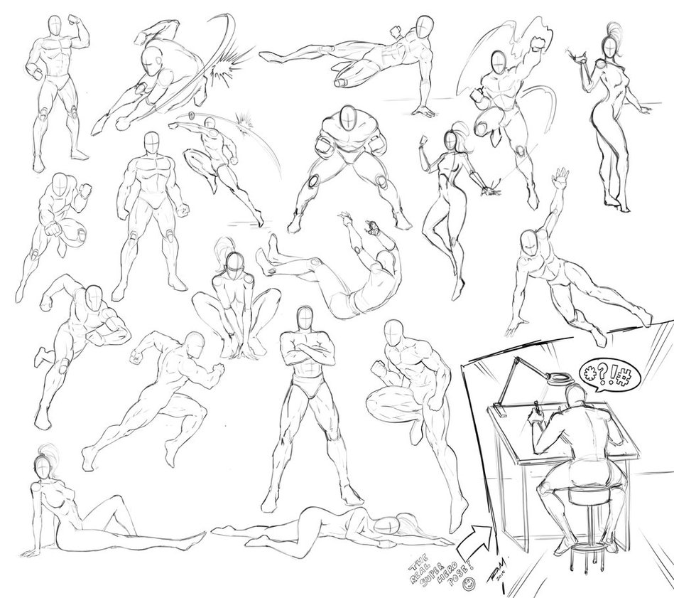 Female Poses For Drawing