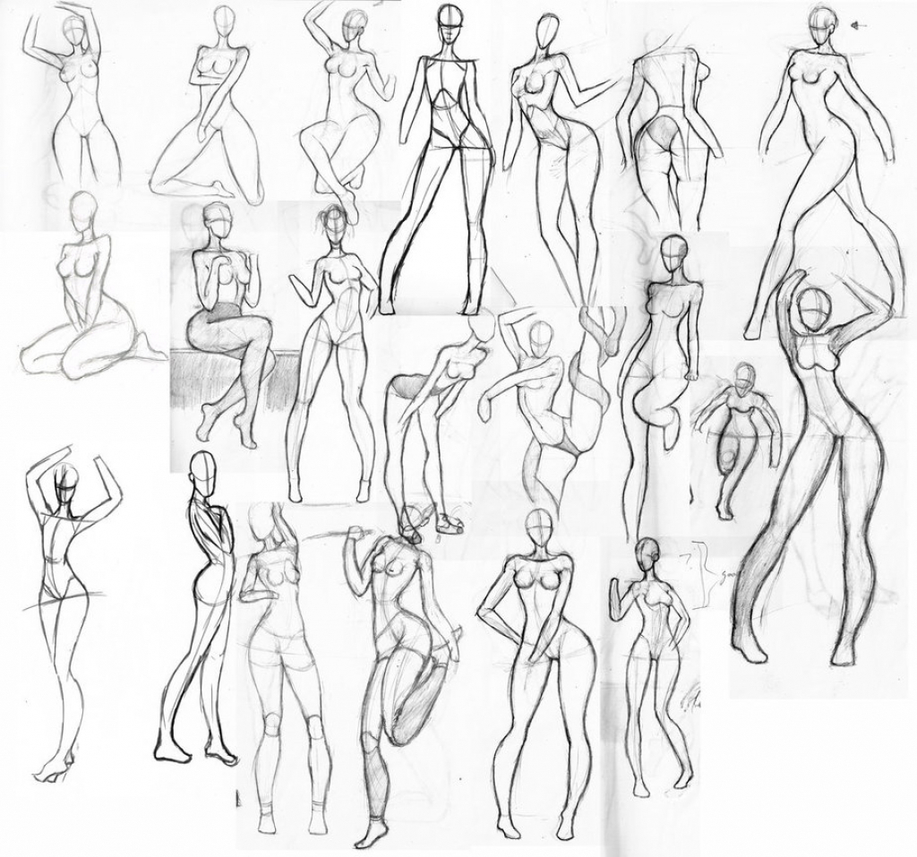 Female Reference Drawing at GetDrawings.com | Free for personal use ...