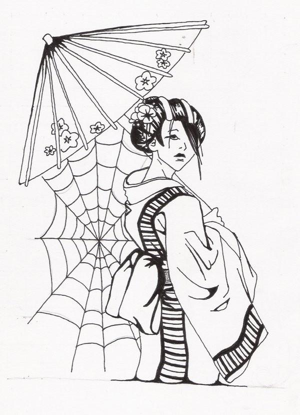 Female Samurai Drawing