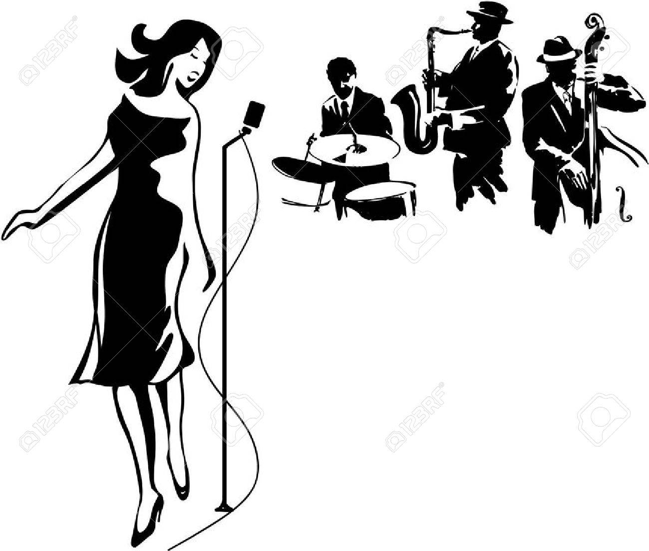1300x1104 Female Jazz Singer Royalty Free Cliparts, Vectors, And Stock
