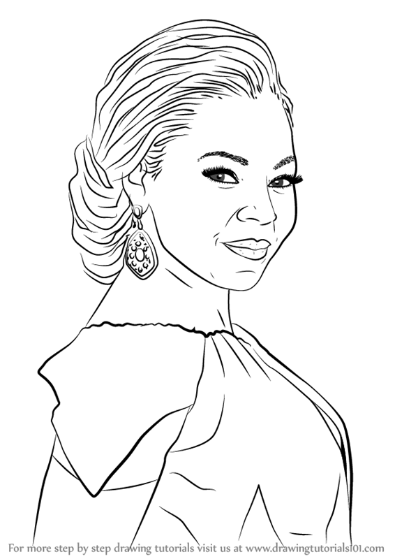 566x800 Learn How To Draw Ashanti (Singers) Step By Step Drawing Tutorials