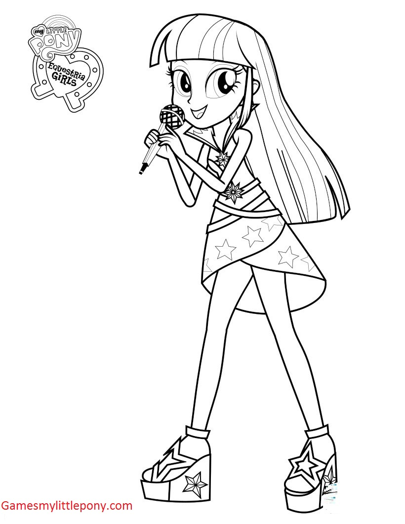 820x1060 My Little Pony Twilight Sparkle Singer Coloring Page