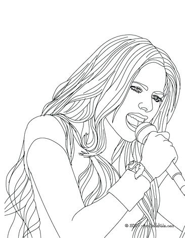 366x470 New Singer Coloring Pages Print Singing Female
