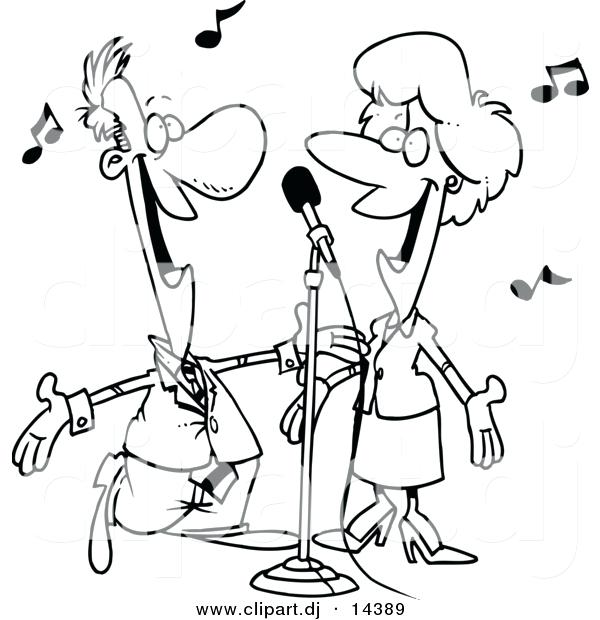 600x620 Singer Coloring Pages Download Large Image Female Singer Coloring