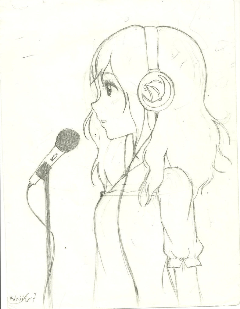 787x1014 Anime Girl Singing By Kanakosaku07