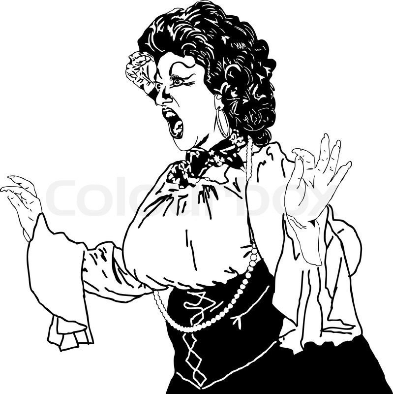 799x800 Black And White Drawing Of A Woman Singing Actress Whiling Away