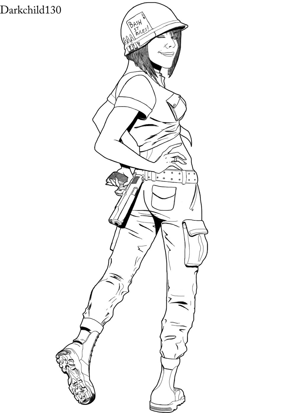 1024x1396 Commission Soldier Girl By Darkchild130