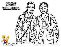 236x181 Female Army Soldier Drawing