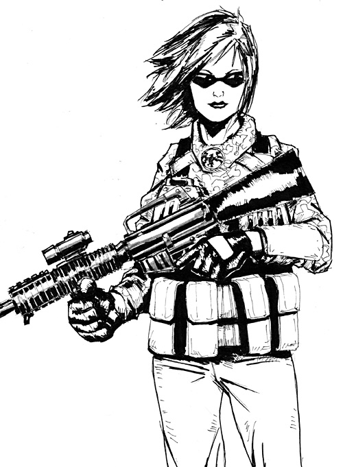 500x681 Female Soldier