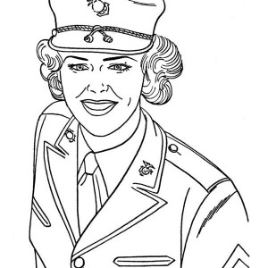 300x300 How Draw A Soldier In Armed Forces Day Coloring Page How