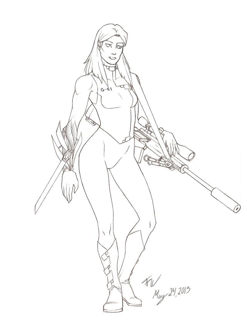 794x1037 Synthetic Soldier [Sketch] Weasyl