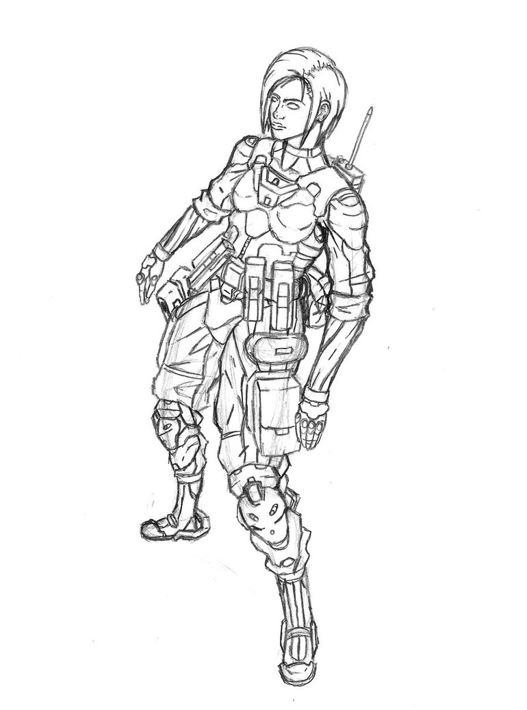 770x1037 Angle Shot Female Soldier By Triatholisk